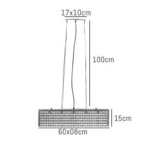 Pendente de Cristal Linear 60x08x15cm - AKITA-60