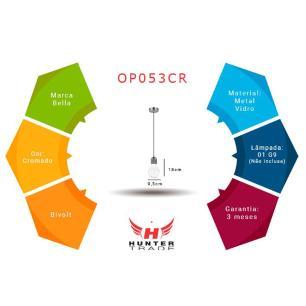 Pendente Cobre para 1 Lâmpada Halopin G9 - OP053CO