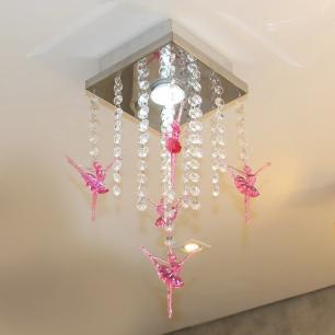 Lustre Plafon de Acrílico Bolshoi com Bailarina para 1 Lâmpada GU10