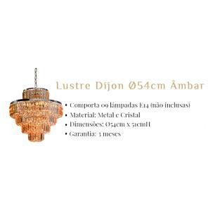 Lustre Dijon para 09 Lâmpadas E14 Âmbar - AQ009MA
