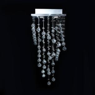 Lustre Athenas de Cristal para 4 Lâmpadas GU10
