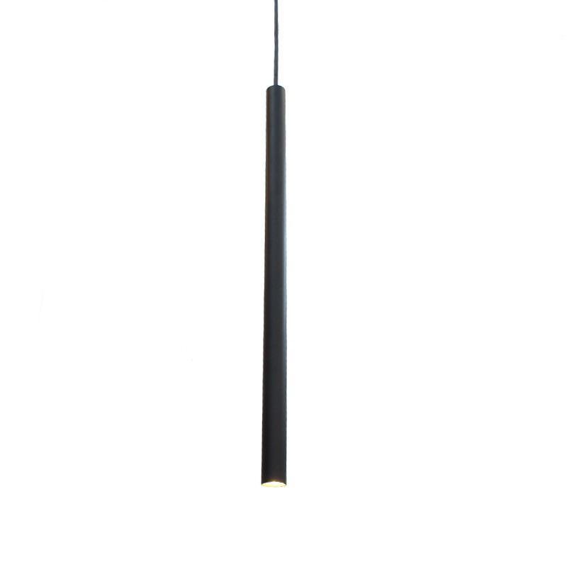 Pendente Tubo Preto 50cm para 1 Lâmpada G9