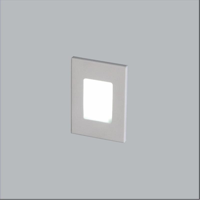 Balizador Dene Branco com LED 1w Branco Quente