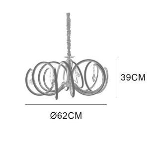 Pendente Formas com LED Branco Quente (3500K) 52W