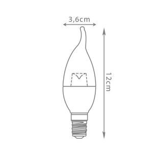 Lampada Chama 4,3w Dimerizável 2700k - LP-33983
