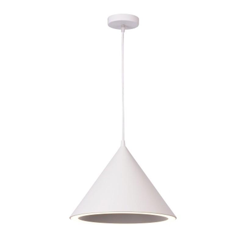 Pendente Hat Branco com 1 Lâmpada LED Branco Frio