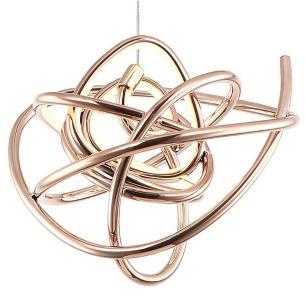 Pendente Ninho Ouro Rose com LED Integrado 12w