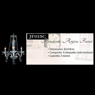 Lustre Anjou Transparente Para 3 Lâmp. E14 -JF013C