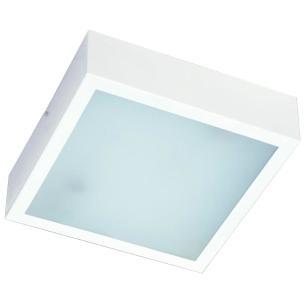 Plafon Quadrado Alumínio Branco 2xE27 - HTPLAF20