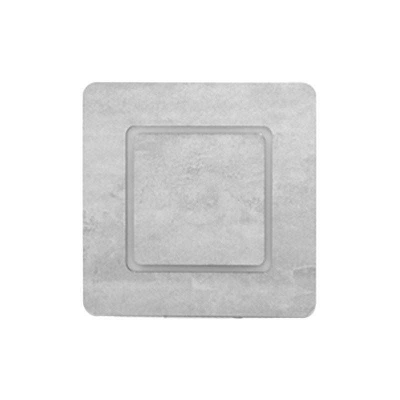 Arandela Rebatedor em MDF na Cor Cimento para 2*G9