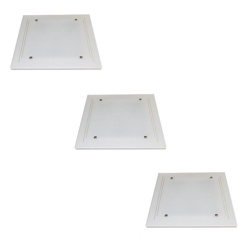 Kit C/ 3 Embutido (3*E27 cada) - KIT3PFEMBJAT40