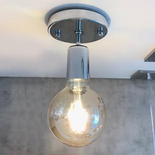Plafon Unique Cromado para 1 Lâmpada E27