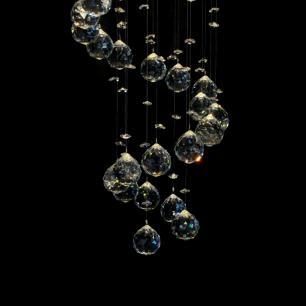Lustre de Cristal Legitimo Turim para 5 GU10