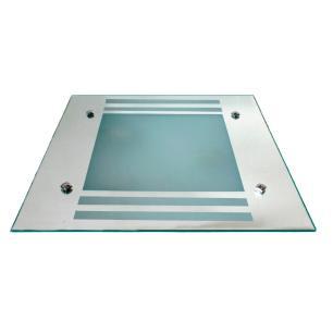 Plafon Quadrado Vidro Espelhado Para 2 Lâmpadas