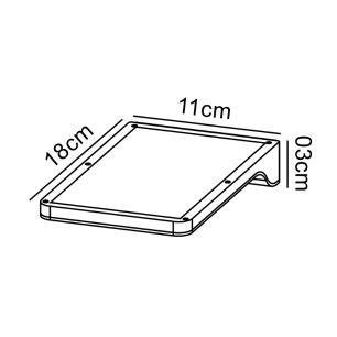 Arandela Solar Slim Preta Led Branco Quente 1,5w
