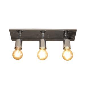 Plafon True Cromado para 3 Lâmpada E27 - TRUE-CR