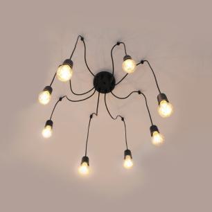 Pendente Spider Aranha Preto para 8 E27