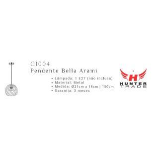 Pendente Arami Cobre para 1 Lâmpada E27 - CI004C