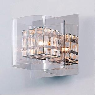 Arandela em Aço, Vidro e Alumínio 13x15cm Bella G9