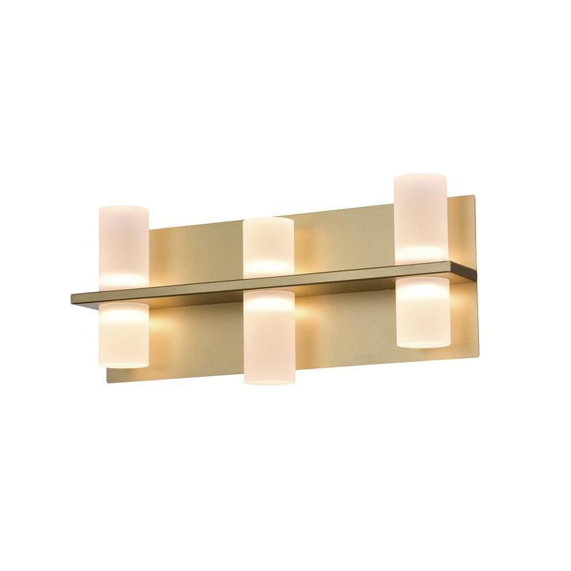 Arandela Clair Sand Gold e Fosco LED Branco Quente