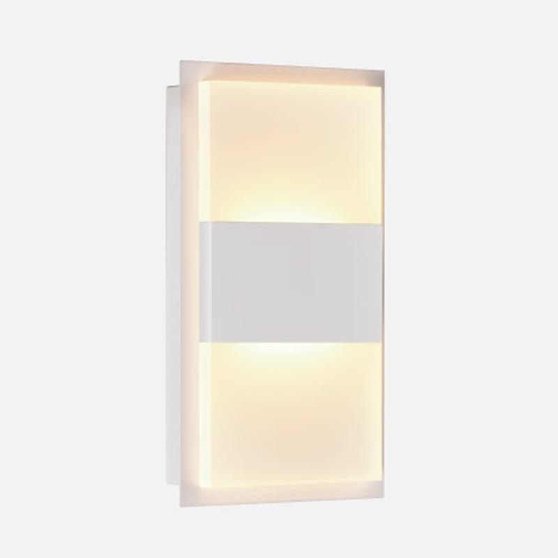 Arandela Retangular LED Branco Quente 12W EDC12231