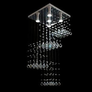 Lustre de Cristal Legitimo Tower para 5 GU10