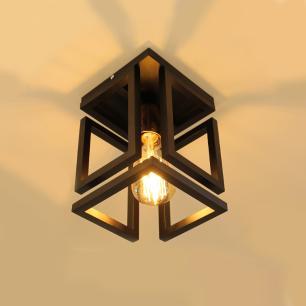 Plafon Infinity para Salas e Quartos E27 Preto