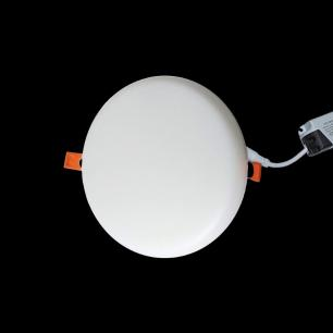 Painel LED Embutido Redondo 18w Branco Quente