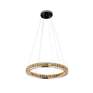 Pendente Aura Piccola Cromado e Transparente LED