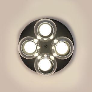 Lustre Plafon Ilumi Preto e Cobre para 4 Lâmp. E27