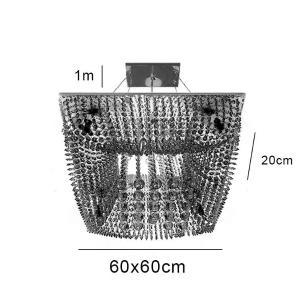 Pendente Kyoto 60x60x20cm para 12 Lâmpadas G9