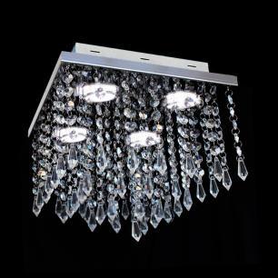 Lustre Cristal Atami Quadrado Pirulito 28x28x28cm