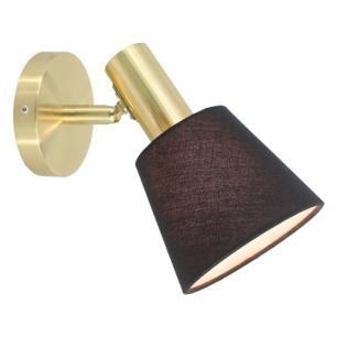 Arandela Pipe Preto e Dourado para 1 Lâmpada E14