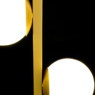 Luminária de Teto Pendente Dourado com Globos