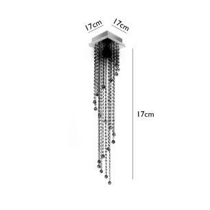 Lustre Acrílico Lisboa 17B 17x17x90cm para 1*E-27