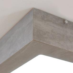 Plafon MDF na cor Cimento para 4 Lâmpadas E-27