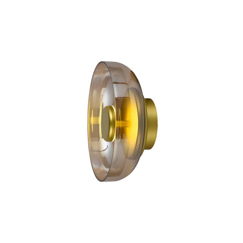 Arandela Disko Dourado e Ambar LED Branco Quente