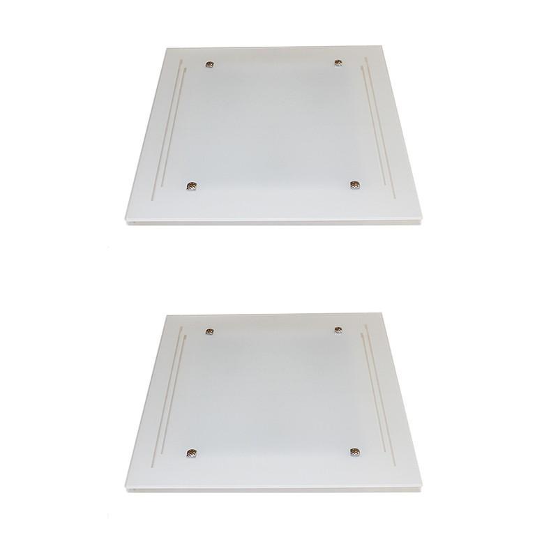 Kit 2 Embutidos Vidro Jateado Para 2 Lâmpadas