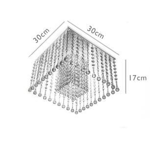 Lustre Plafon de Acrílico e Base Aço Inox Preta G9
