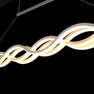 Pendente Ondas com LED Branco Quente (3000K) 72W
