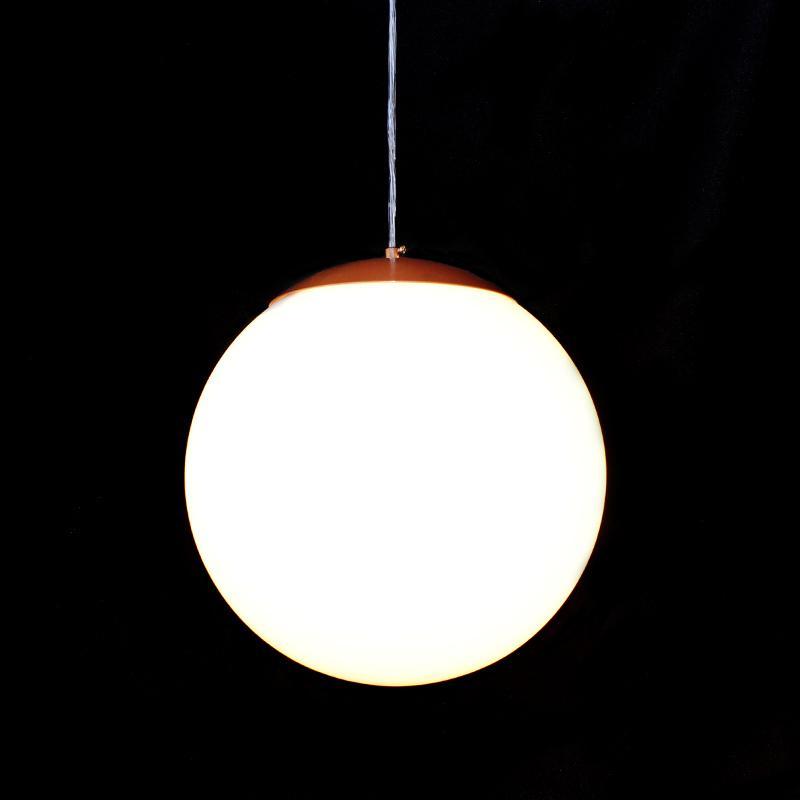Luminária Pendente Bola 30cm com Acabamento Cobre