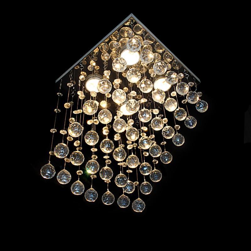 Lustre de Cristal Rampa para 4 Lâmpadas GU10