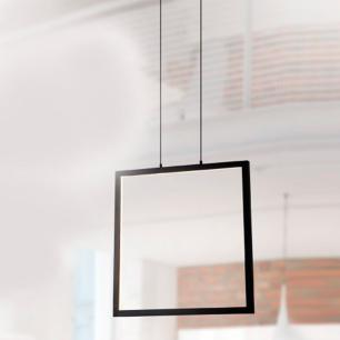 Luminária Pendente Montaggio Preta LED Integrado
