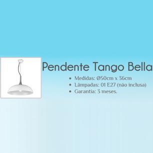 Pendente Tango Branco para 1 Lâmpada E27 - BQ003W