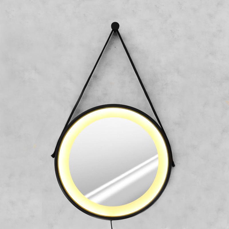 Espelho Adnet 50cm com LED Branco Quente e Botão