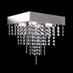 Lustre em Acrílico Pirâmide para 4 Lâmpadas GU10