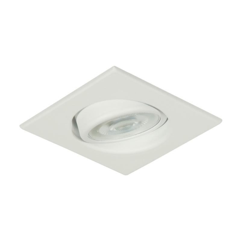 Spot Quadrado Embutir Alumínio Dicróica GZ10 Branc