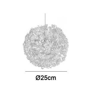 Pendente Flor Dente de Leão 25cm Cromado para G9