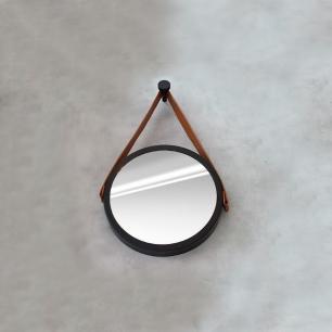 Espelho Adnet Preto e Caramelo - HTADNET-30