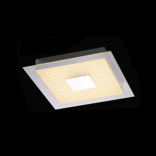 Plafon Quadrado Luxo Cromado Cristal LED 3000k 12W